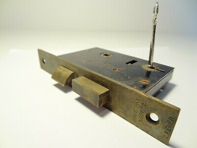Working Antique Vintage Brass Door Set 2 Lever Mortise Lock & Key Glasgow Brits