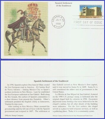 #3220 U/A MYSTIC FDC   Spanish Settlement of the South