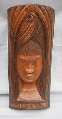Queen of Sheba Camille Boucher Quimper French Art Deco Carved Wood Figure