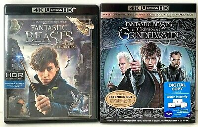 Fantastic Beasts - Lot of 2 Movies: Ultra HD + Blu-ray [NO DIGITAL CODE]
