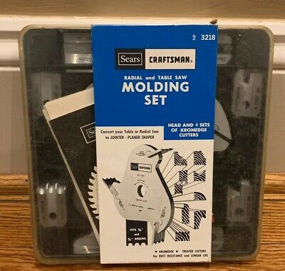 NEW Vintage Sears Craftsman 9-3218 Radial & Table Saw Molding Set