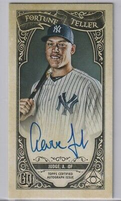 2020 Gypsy Queen Aaron Judge Fortune Teller Black 1/1 On Card Auto True 1/1