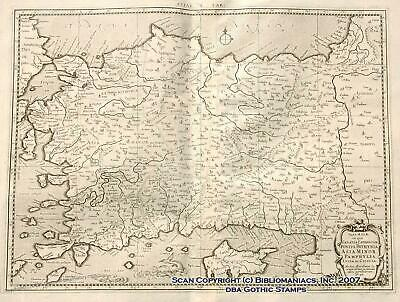 Asia Minor Bosporus Cyprus 1695 Antique Map 32532