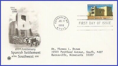 #3220 ADDR PCS ARTCRAFT FDC   Spanish Settlement of the South