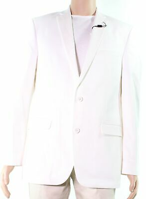 Bar III Mens Jacket Ivory Size 40R Two Button Slim Fitted Suit Blazer $275 #110