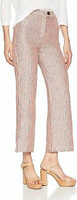Mara Hoffman Women's Red Size 6 Striped Capris Cropped Pants Stretch $325 #451