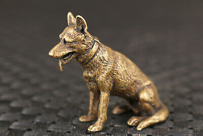 chinese old bronze hand carved love dog statue netsuke statue