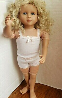 My Twin American Girl doll Blonde Curly Hair Blue Eyes Outfit Underwear 2007 23""