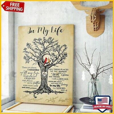 FREESHIP The Beatles In my Life Music Song Lyrics Art Portrait Poster No Frame