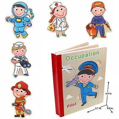 Educational Learning Puzzle Toy for Toddlers Baby Kids Children/ Occupation