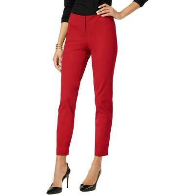 Alfani Womens Red Skinny Ankle Office Wear Dress Pants Trousers 14 BHFO 7602