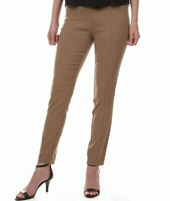 Leighton Women's Brown Size Medium M Pull On Skinny Pants Stretch $36 #197