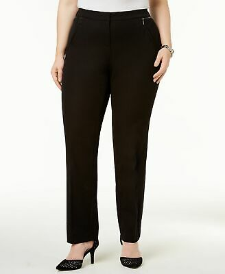 Alfani Women's Black Size 24W Plus Slim Leg Trouser Dress Pants Stretch $69 #342