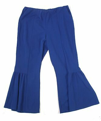 NY Collection Women's Blue Size 2X Plus Bell Bottom Dress Pants Stretch $54 #435