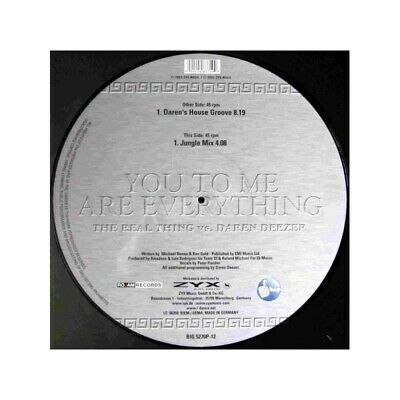 """Picture 12"""" REAL THING VS DAREN DEEZER - You To Me Are Everything"""