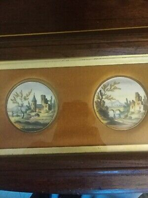Pair of late 18th or early 19th century porcelain plaques