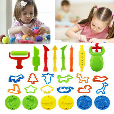 26PCS Play Doh Kids Tools Set Modelling Craft Play Dough Mould Mold Toy Cutters