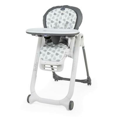 Chicco Polly Progress 5-in-1 Baby Highchair (Grey) - Suitable From Birth