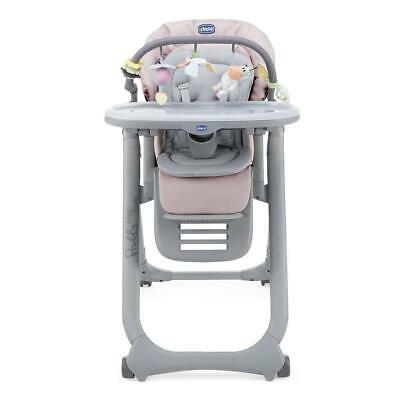 Chicco Polly Magic Relax Highchair 4Wheel (Paradise Pink) - Suitable From Birth