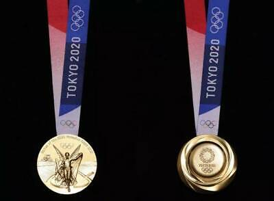 2020 Japan Olympic Olympics Golden Medal With Ribbon 1:1 Replica