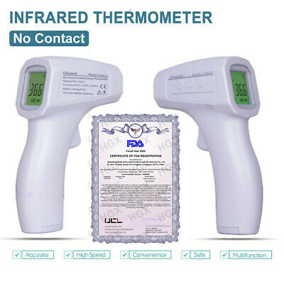 Medical Thermometer Gun Non Contact Digital IR Infrared Forehead fahrenheit USA