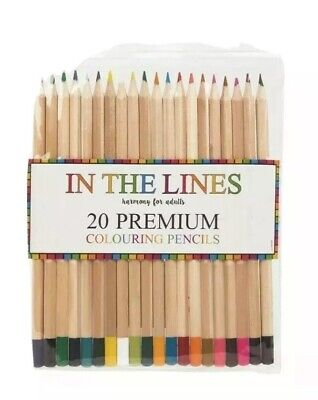 20x Colouring Pencils Premium Blending Colours Adult/Children Drawing/Sketching