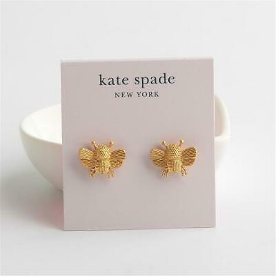 Kate Spade New York All Abuzz Bee Stud Earrings Gold Tone