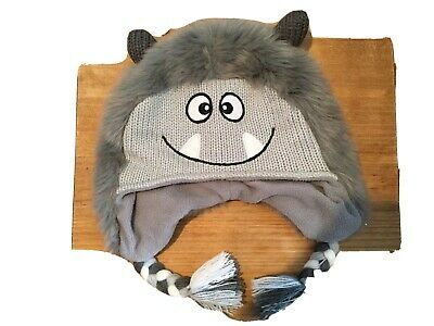 Mothercare 3-6 Years Furry Grey Monster Hat