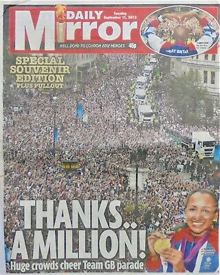 Olympics Olympic Games Memorabilia - London 2012 Gb Team Parade - Daily Mirror