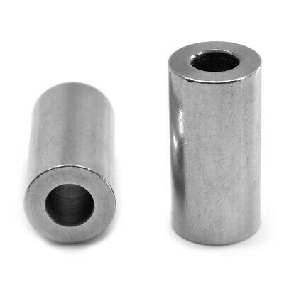 "#8 x 5/8 (1/4"") Round Spacer Brass Nickel Plated"