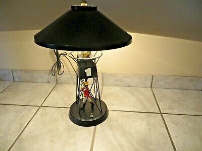 Old 1965 Johnnie Walker Red Whiskey Advertising Buoy Lamp Light, Metal Shade