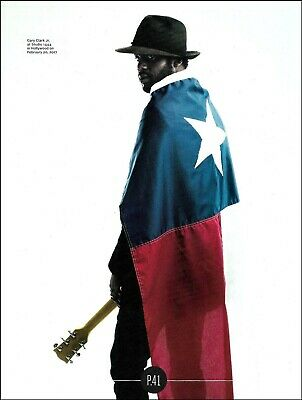 Gary Clark Jr. with Texas Lone Star State Flag 8 x 11 color pin-up photo print