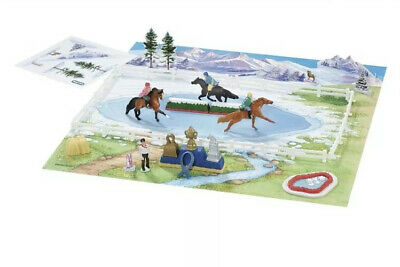 #300105 Breyer Mini Whinnies St. Moritz Winter Festival Play Set All Pieces Rare