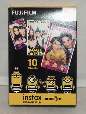 Fujifilm Instax Mini Minions Themed Instant Film 10 Sheets NIB
