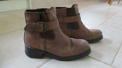 DOLCIS Mens Brown Leather Ankle Boots size 42 EU / 9 UK