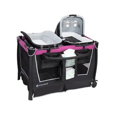Baby Trend Retreat Portable Nursery Center with Baby Changing Table, Purple