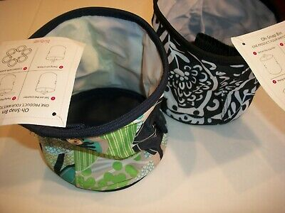 LOT OF 2 NWT Thirty-One OH-SNAP BIN 078A FABULOUS FLORAL BLACK WHITE PAISLEY