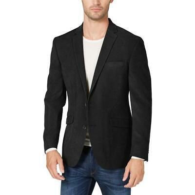 Kenneth Cole Reaction Mens Black Faux Suede Sportcoat Blazer 44R BHFO 9381