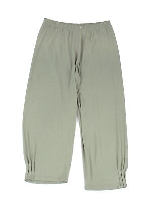 Masai Women's Pants Green Size XL Pull-On Capris Cropped Stretch $93 #952