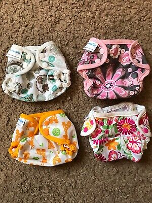 Lot Of 4 Blueberry Coveralls Cloth Diaper Covers