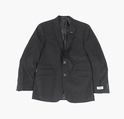 Kenneth Cole Reaction Mens Blazer Black Size XL Two-Button Notched $295- #454