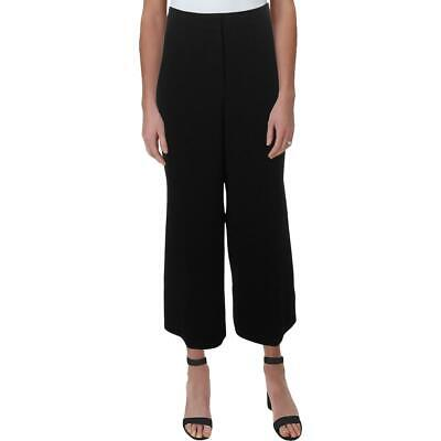 Elie Tahari Womens Black Split Hem High Rise Wide Leg Pants 6 BHFO 7176