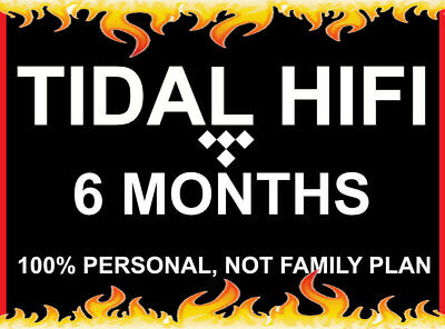 6 Months Tidal Hi-Fi | Masters Quality Account| Instant Delivery | BOGO