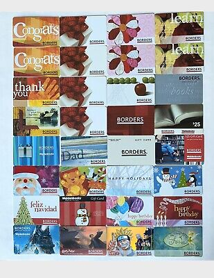 BORDERS Walden Books GIFT CARD LOT OF 32 NO VALUE ON CARDS A