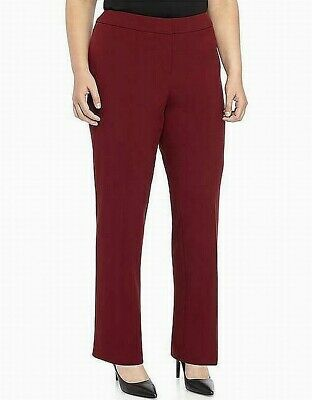 Nine West Women's Red Size 24W Plus Flared Leg Dress Pants Stretch $89- #392