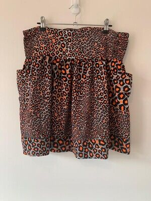 City Chic Leopard Print Skirt With Pockets Size S