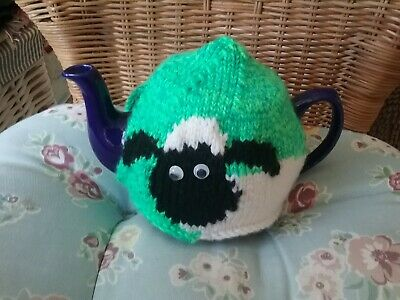 Hand Knitted Sheep Tea Cosy/Cozy/Cosies/Cozies