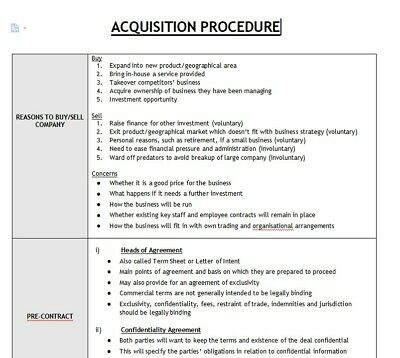 LPC Notes 2019   University of Law Stage 2 - Mergers & Acquisitions Notes -