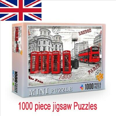 Puzzle 1000 Piece Jigsaw Wooden Jigsaw Decompression Game Toy Gift Adult Kid UK
