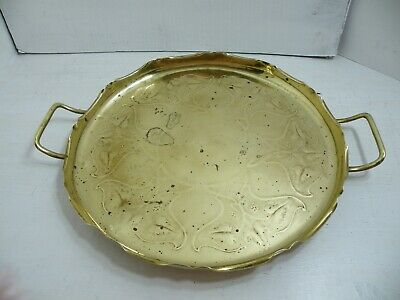 Antique/Vintage Arts And Crafts Brass Tray by Joseph Sankey and Sons